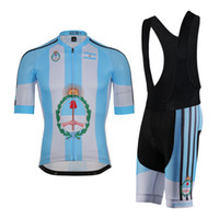 Wholesale maillot sky pro cycling - Argentina Cycling jersey polyester quick-dry pro bike jersey MTB Ropa Ciclismo team sky Bicycling maillot shirts