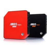 lecteur de films pc achat en gros de-Android 7.1 Smart TV Box 3 Go 32 Go M8S Plus II Amlogic S912 Octa Core Mini PC 4K H.265 Lecteur multimédia Home Movie Bluetooth Youtube