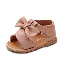 Wholesale moccasins baby sandals resale online - hot sell summer double tassel Genuine Leather Baby moccasins child Summer girls boys sandals baby shoes soft sole sandals