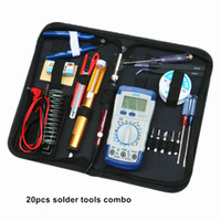 Wholesale electronic solders resale online - 60W thermostat soldering gun combo V electric iron solder tool electric soldering iron for electronic product repair