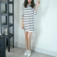66b633d7fa Pengpious Korean Style Postpartum Women Stripe Cotton Slim Hips Long Design  Nursing T-shirt Maternity Lactation Clothes Breastfeeding Tees
