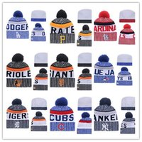 Wholesale Tiger Winter Hats - Wholesale Hot Baseball Beanies Dodgers tigers Blue Jay HOT team Beanies Sports Beanie Knitted Hats Free drop shipping Accept Mix Order