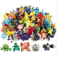 suicune figur großhandel-144 teile / los Figuren 2-3 CM Monster PVC Action-figuren Kleine Größe Pikachu Charizard Eevee Bulbasaur Suicune PVC Mini Figur Spielzeug