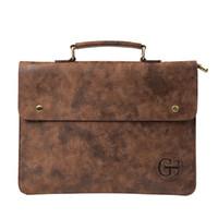 Wholesale file briefcase for sale - File Pocket Business Briefcase Men s Work Bag PU Leather Bag Men Office Camouflage Handbag Document Data Package A4 File Pocket