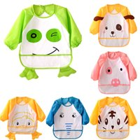 Wholesale yellow rice for sale - Group buy Baby Cartoon Styling Waterproof Reverse Wear Clothing Child Eating Bibs Cloths Baby Rice Half Baked Pocket Anti dirty Designs T