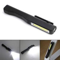 kugelschreiber taschenlampe großhandel-COB LED Mini Pen Multifunktions-LED-Taschenlampe Taschenlampe Led Taschenlampe mit Clip Magnet, Verwenden Sie AAA Q0336