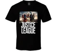 camisetas de algodón superhéroe al por mayor-Summer Cotton Fashion Justice League Película Superhero Comic Cult Classic Camiseta Mangas Algodón T-Shirt Fashion