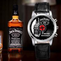 relógio feminino flor pulseira venda por atacado-Jack Daniels Whiskey Relógios Mulheres Moda Flores pulseira Relógios Esporte Analógico De Pulso De Quartzo Top marca de luxo relógio de Pulso