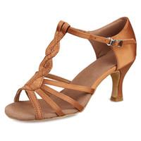 ayakkabı latin toptan satış-Yepyeni latin dans ayakkabıları tango topuk yüksekliği 7 / 5cm kadın ayakkabı