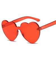 menina novos óculos de sol venda por atacado-2018 nova moda pêssego coração óculos de sol tendência amor sem aro de lantejoulas óculos de sol praia beach resort óculos de sol presentes para meninas