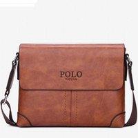 108e3bbce Famoso bolso de los hombres de la marca de cuero maletín de negocios  ocasionales de cuero para hombre bolsa de mensajero Vintage Crossbody de  los hombres ...