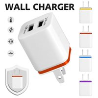 Wholesale Dual Ipad Dock - NOKOKO Wall Charger Universal Dual USB Ports Power Protable Adapter 1.0A 2.1A Plug For iPhone X iPad Samsung S9 No Package
