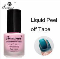 Wholesale fingernails art - Vrenmol Skin Protected Vernis Peel Off Nail Glue Liquid Nail Art Tape Latex Fingernails Palisade Care Gel Nail Polish