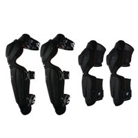 Wholesale motorcycle shin guards - Huntingwolf KN02 Motorcycle Racing Knee Shin Elbow Guards ATV MX Motocross Off Road Elbow&Knee Pads Protective Gear Protectors