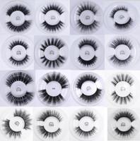 Wholesale silk eyelashes extensions - 3D Soft Silk Protein False Eyelashes Extension Cross Black Long Full Strip Eye Lashes Makeup eyelash extensions