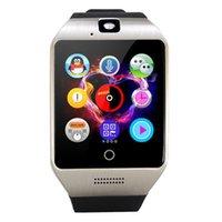 смартфоны с большим экраном оптовых-Pewant Smart Watch Q18 сенсорный экран большая батарея поддержка TF Sim-карты камера для Android телефон Passometer SmartWatch