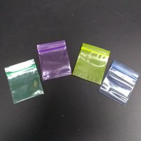 Wholesale 100PCS Colorful Plastic Bags Jewelry Ziplock Zip Zipped Lock Reclosable Poly Packaging Bags Size cm