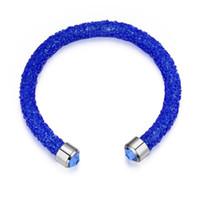 Wholesale austria crystal jewelry sets resale online - Shining Chain Bracelet Austria Crystal Women Jewelry Gift Pulseira Feminin