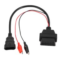 Wholesale Diagnostic Cables Vag - 20pcs 3Pin to 16Pin OBD Diagnostic Tool 12V plastic Adapter Cable Plug Connector Car Extension Cable for Fiat for Alfa for Lancia 12V