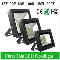 enchente de refletores venda por atacado-4PCS LED Reflector 110V 220V LED Flood Light 100W 150W 200W 300W 500W levou Floodlight Garden Spotlight Outdoor Wall Lamp Thin