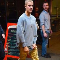 Wholesale god flash - Wholesale-Justin Bieber Fear Of God Rock Hip Hop T Shirt Kanye West Oversized Tee Shirts