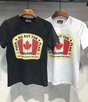 Wholesale slim fit brand - 2018 Summer New Canada Print T-Shirt Men Slim Fit Fashion 100% Cotton Vintage T Shirts High Quality Brand Clothing TD017103