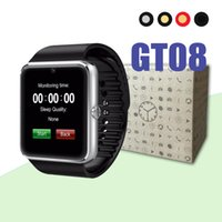 Wholesale battery bluetooth for iphone for sale - Group buy GT08 Smart Watch Bluetooth Men With Touch Screen Smartwatch Big Battery Support TF Sim Card Camera For IOS iPhone Android Phone