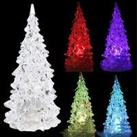Wholesale Ma Year - Wholesale-Hot Popular Christmas Tree Shape Sleep Night Colorful Flashing Light-up Toys for X-mas Party