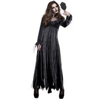mulheres vestido zombie venda por atacado-Big Size Halloween Zombie Bride Fantasias Ghost Corpse Dress for Women