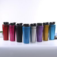 Wholesale mixer bottle for sale - Group buy 304 Stainless Steel Protein Shaker Bottle Whey Protein Powder Gym Shake Kettle Milkshake Mixer Sports Water Bottle Single Layer