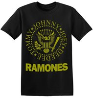 ingrosso le t-shirt di rock band-Magliette Ramones Magliette Cool Old Band Magliette classiche Black Rock Band 1-A-095