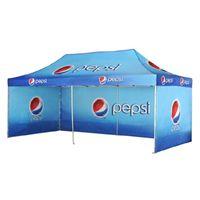 складной тент для навеса оптовых-10FTX20FT Складная палатка с балдахином на открытом воздухе Большая складная палатка с беседкой с алюминиевой трубчатой структурой и 3 полными стенами