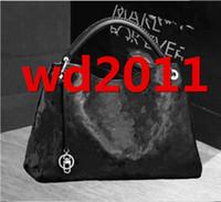 totes negro al por mayor-Nueva moda de alta calidad de la PU bolsos de cuero de las mujeres famosas diseñadores negros tote bolsas con bolsa de polvo M40249