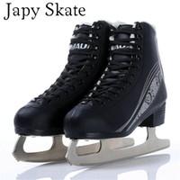 ingrosso adulti scarpe fiori-Japy Skate Ice Skate Tricks Scarpe Adulto Bambino in pelle Pattini da ghiaccio Coltello da fiore professionale Hockey Knife Pattini veri