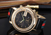 Wholesale Mens Black Watch Diamonds - mens watches Luxury dress designer fashion Black Dial Calendar gold Bracelet Clasp Master Male quartz watches diamonds steel 2018 gifts