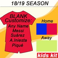 Wholesale orange red white suits for sale - Group buy 2018 MESSI Kids kit Soccer Jersey RAKITIC SUAREZ PIQUE Home Away Child Suit Football Shirts A INIESTA RAFINHA Girl Kits Short Jerseys