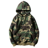 Wholesale men belt letter for sale - Group buy Army Green Camouflage Hoodies Winter Mens Camo Fleece Pullover Hooded Sweatshirts Hip Hop Swag Cotton Streetwear S XL