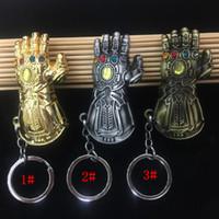 rächer liefert großhandel-7 cm Marvel Avengers Handschuhe Schlüsselanhänger Infinity Krieg Thanos Gauntlet Thanos Handschuhe Legierung Schlüsselanhänger Kinder Spielzeug Halloween Zubehör