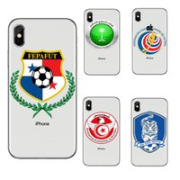 tpu football 2018 - Footbal World Cup phone cases for iphone X 8 7 6 6s plus SE s7 edge S8 S9 soft TPU painting cover shell Football defender Skin GSZ398