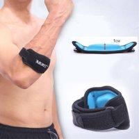 ingrosso badminton elbow pad-1 PZ Fitness Gomito Pad Tennis Badminton Muscolo pressurizzato protettiva Uomo regolabile Donne Sport Sicurezza