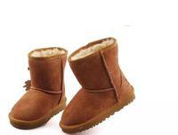 botas de bebé niña caen al por mayor-2017 se venderá el nuevo australiano WGG5821 de alta calidad niños niños niñas niño bebé botas de nieve cálida estudiante juvenil nieve invierno arranque