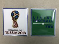 kadife yamalar toptan satış-En kaliteli Yama 2018 dünya kupası Yama Futbol Yama Futbol Rozetleri Kaşmir malzeme kadife