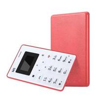hdc gold großhandel-Mini-Karten-Telefon mit alternativer Notfall Brieftasche Telefon 4,5 mm schlank geringe Strahlung Telefon DHL-freies Verschiffen