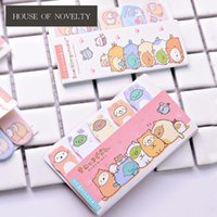 Wholesale adhesive memo pad - 24 Pcs lot Wonderful Sumikko Gurashi Memo Pad N Times Sticky Notes Escolar Papelaria School Supply Bookmark Label