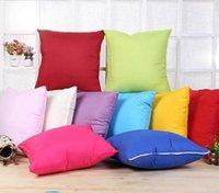 ingrosso divano bianco arredamento-45 * 45 CM Home Sofa Throw Pillowcase Puro Colore Poliestere Bianco Copertura del Cuscino Cuscino Decor Pillow Case Blank Decor Regalo di natale