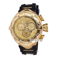 Wholesale round wrist watch big dial online - 2018 Top Brand Luxury Invicta Men Wrist Watch Big Dial rubber band Military Sport Watch Famous Male Clock For Man Relogio Masculino