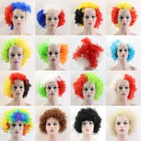 Wholesale wig supplies free shipping - 200pcs European Cup World Flags Wigs Fans Party Supplies Explosion Hats Carnival Festival props wholesale free shipping