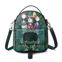 moderne frauen rucksack großhandel-Der ethnischen Art der koreanischen Frauen Mehrzweckrucksackschulterdiagonale weibliche Tasche ursprünglicher moderner Mädchenminimoderucksack