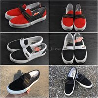 Wholesale Style Snow Boots - 2018 Fear of God X Vans Style 147 Sneakers Women Men Low Cut Casual Shoes Fashion Red Black lovers Canvas Designer Brand Sneakers