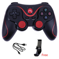 joystick do controlador sem fio venda por atacado-Joystick Sem Fio Bluetooth 3.0 T3 Gamepad Controlador de Jogos X3 Gaming Controle Remoto para Tablet PC Android Smartphone Com Suporte